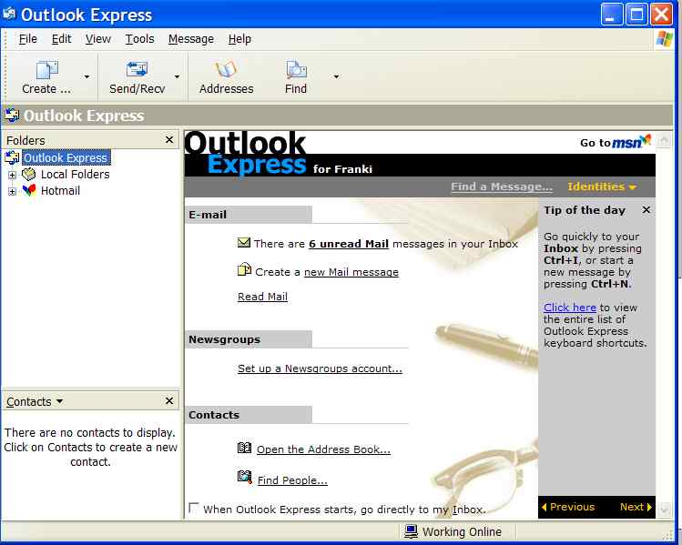 open outlook express