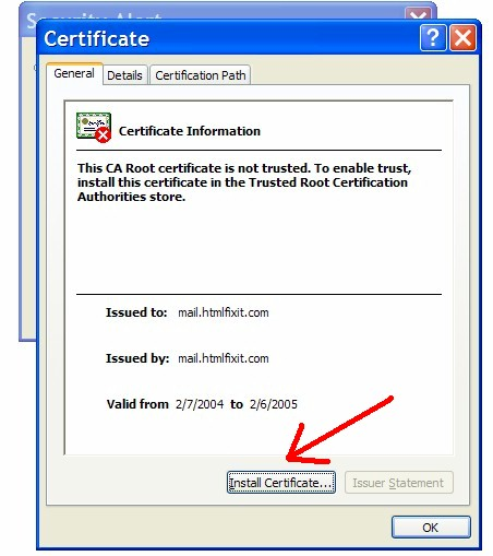 "Click ""Install Certificate""."